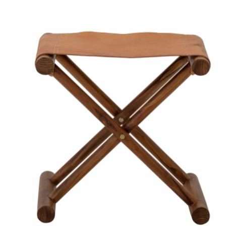 Esma Stool, Brown, Leather
