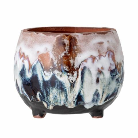 Bjanka Deco Flowerpot, Multi-color, Terracotta