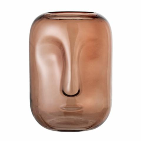 Amida Vase, Brown, Glass