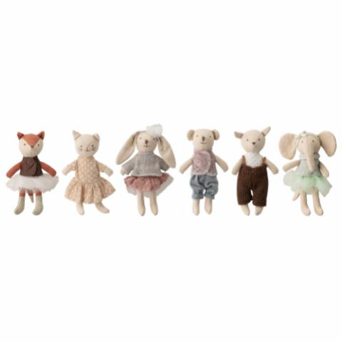 Animal friends Soft Toy, Multi-color, Cotton
