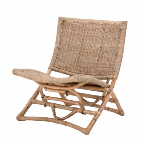Baz Lounge Chair, Nature, Rattan