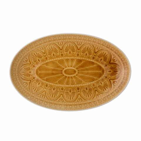 Rani Serving Plate, Yellow, Stoneware