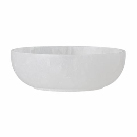 Rabia Bowl, White, Alabaster