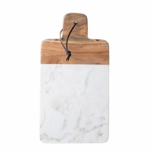 Emil Cutting Board, White, Marble