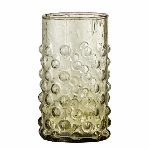Freja Drinking Glass, Green, Recycled Glass