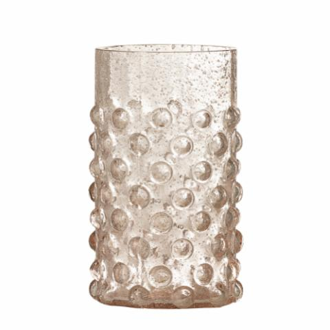 Freja Drinking Glass, Rose, Recycled Glass
