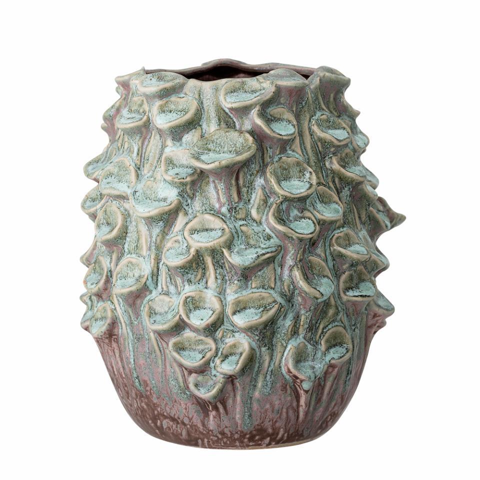 Rigo Vase, Green, Stoneware