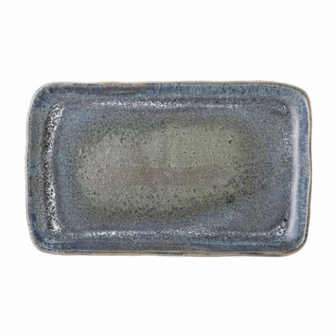 Aura Serving Plate, Blue, Stoneware