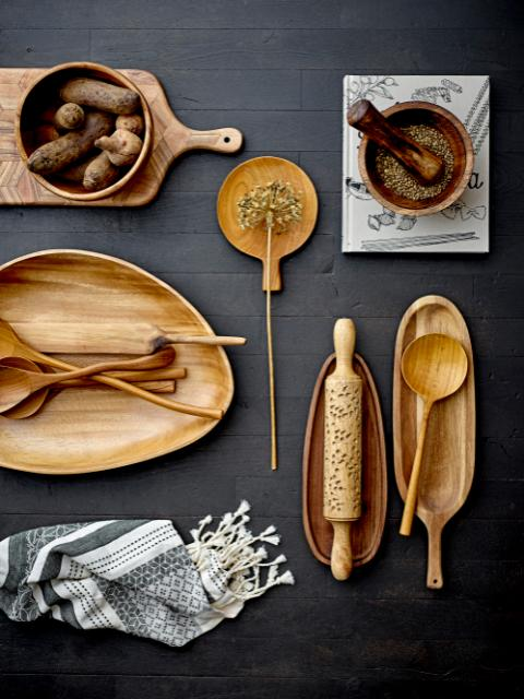 Sidra Salad Servers, Nature, Teak