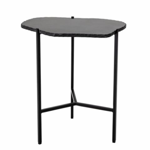 Svea Sidetable, Black, Marble