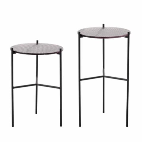 Cille Sidetable,Grey, Glass