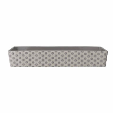 Elsa Serving Dish, Grey, Stoneware