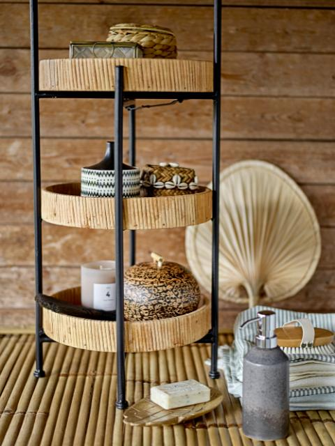 Seval Basket w/Lid, Nature, Bamboo