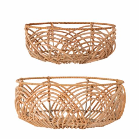 Anton Bread Basket, Nature, Rattan