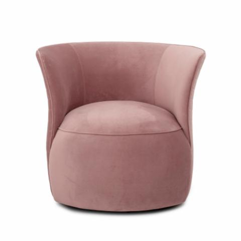 Figure Lounge Chair, Rose, Polyester