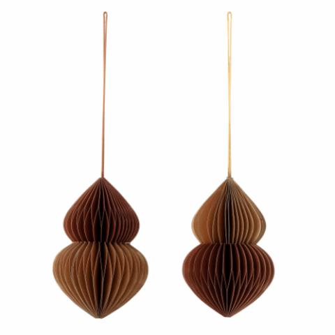 Milay Ornament, Brown, Paper