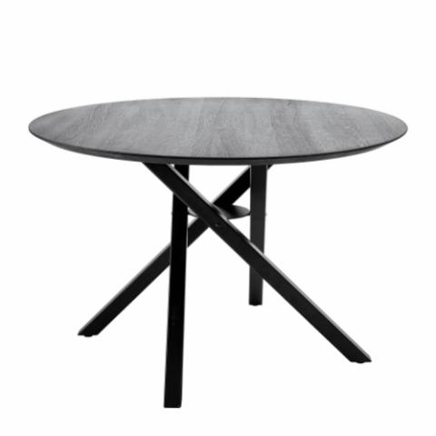 Connor Dining Table, Black, Oak