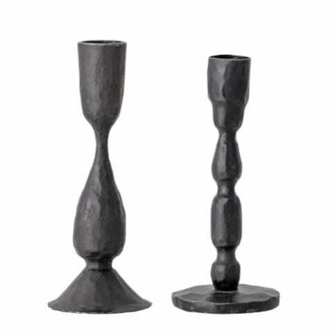 Candlestick, Black, Metal