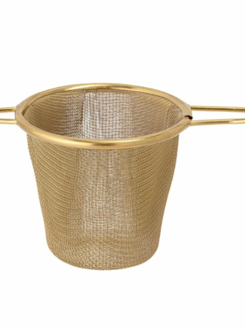 Thesi Tea Strainer, Gold, Stainless Steel