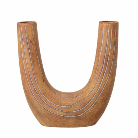 Deco Vase, Brown, Terracotta