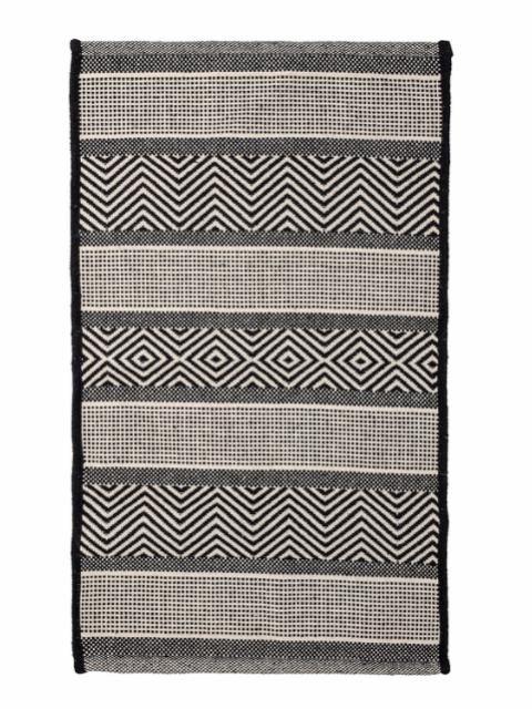 Orson Rug, Black, Cotton
