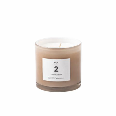 NO. 2 - Green Gardenia Scented Candle, Natural wax