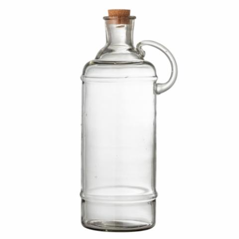 Bjork Bottle w/Lid, Clear, Glass