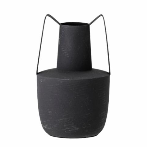 Itamar Vase, Black, Metal