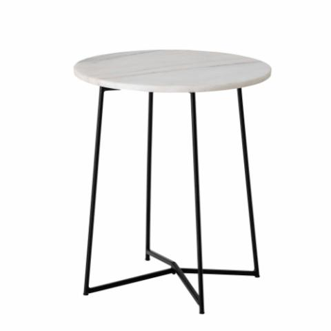 Anou Sidetable, White, Marble