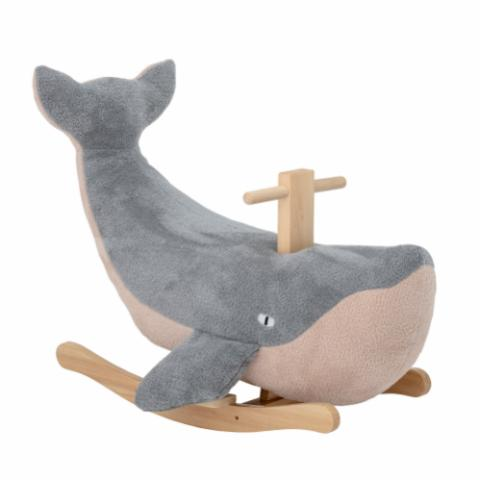Moby Rocking Toy, Whale, Blue, Polyester