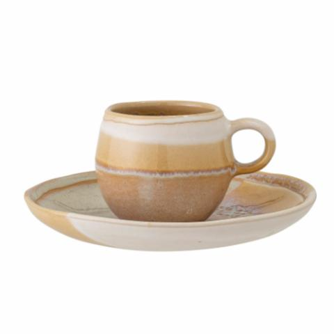 April Espresso Cup w/Saucer, Yellow, Stoneware