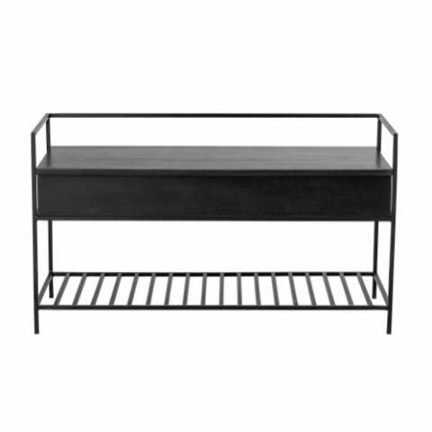 Abelone Bench, Black, Mango