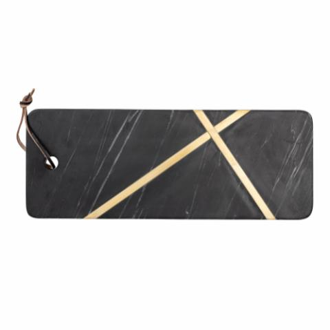 Elsi Cutting Board, Black, Marble