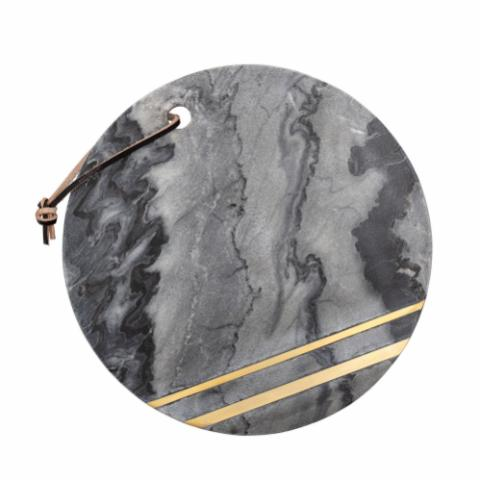 Eluna Cutting Board, Grey, Marble