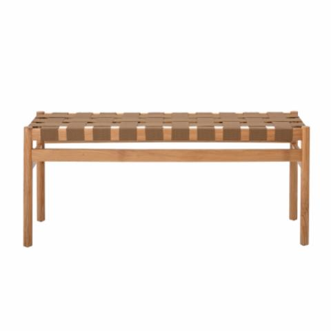 Roel Bench, Brown, Oak