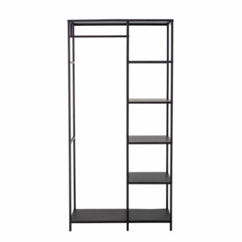 Valde Clothes Rack, Black, Metal