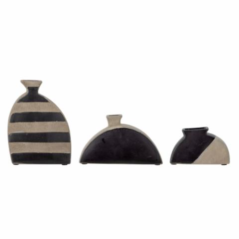 Nezha Vase, Black, Terracotta
