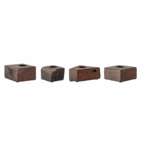 Blanca Votive, Brown, Recycled wood