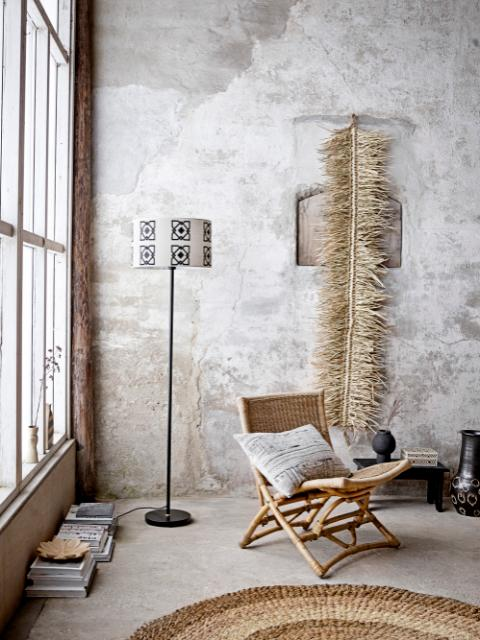 Selita Floor Lamp, Black, Metal