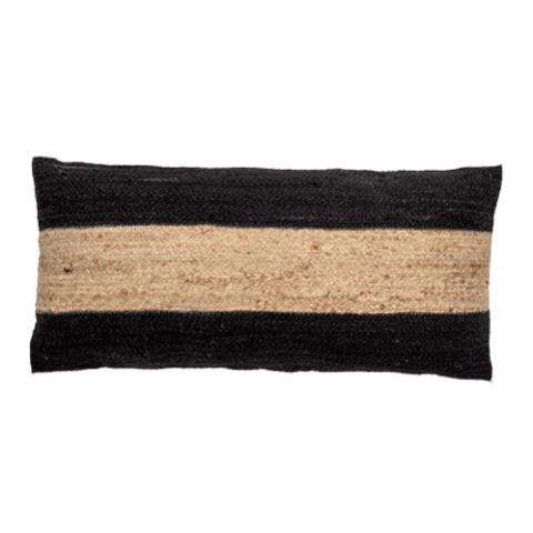 Guttorm Cushion, Black, Jute