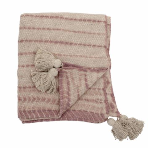 Hilaire Throw, Rose, Recycled Cotton