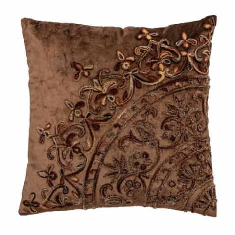 Gerrard Cushion, Brown, Polyester