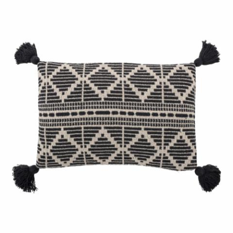 Gutte Cushion, Black, Recycled Cotton