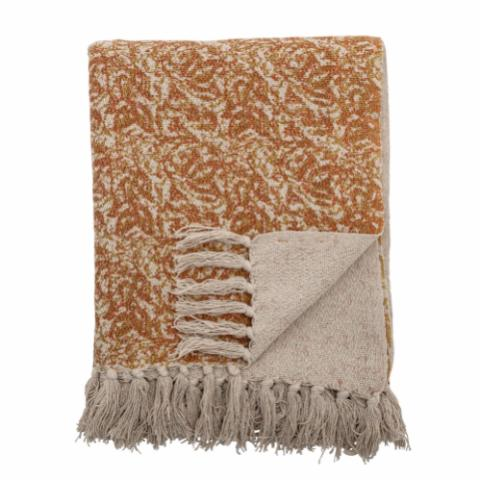 Cianna Throw, Brown, Recycled Cotton