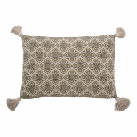 Cila Cushion, Green, Recycled Cotton