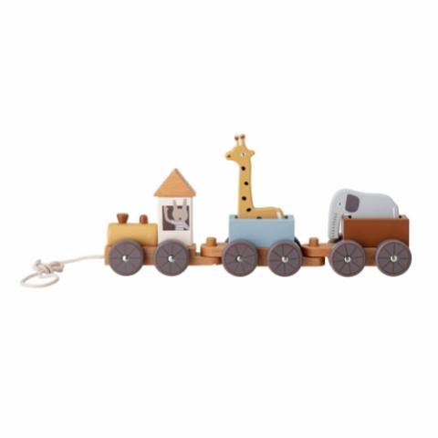 Coty Pull Along Toy, Multi-color, Beech