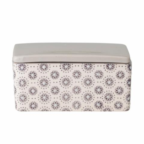 Elsa Butter Box, Grey, Stoneware