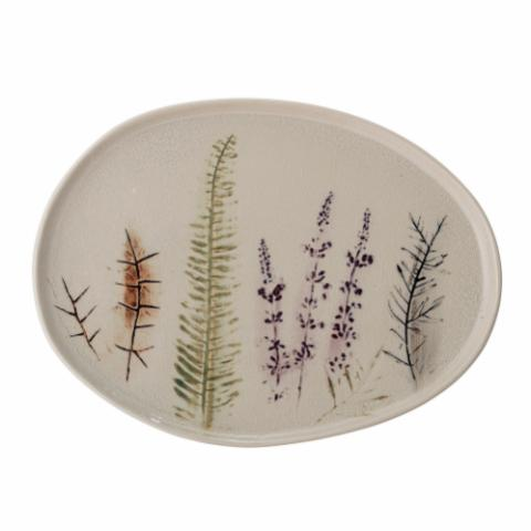 Bea Serving Plate, Nature, Stoneware
