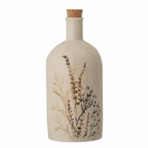 Bea Bottle w/Lid, Nature, Stoneware
