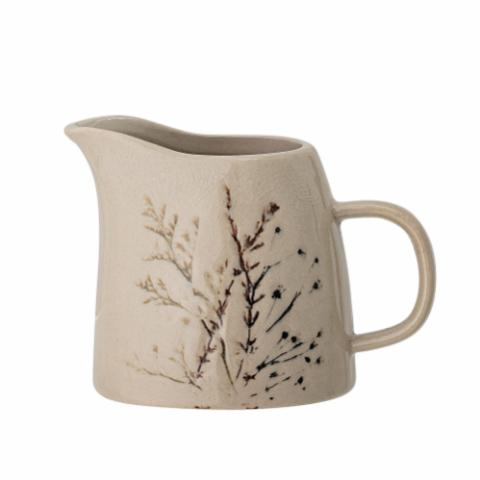 Bea Milk Jug, Nature, Stoneware